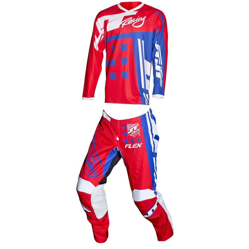 JT Racing Flex ExBox Red & Blue Jersey & Pant Combo - Size X-LARGE/36W