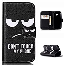 "Motorola Moto E2 case (2nd gen), Moto E+1,XT1527 cover - 4.5"", ANGELLA-M Flip PU Leather, Magnetic Wallet Case, [Folio Stand] & Card Slots. [Fashion Cartoon Eyes]"