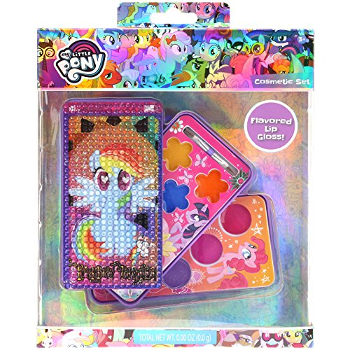 TownleyGirl My Little Pony Super Sparkly Lip Gloss For Girls in Cell Phone Compact, 8 flavors