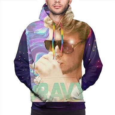 YUNY Mens Pullover Plus Velvet Hood Office Pocket Sweatshirt 1 L