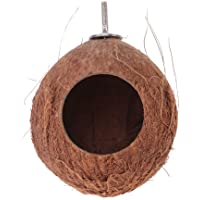 Balacoo Bird House Parrot Cage Natural Coconut Shell Nest Cages Pet Budgies Parakeet Cockatiels Conure Canary Finch…