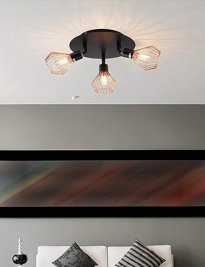 VHFIStj Luces vintage G9 - Proyector de techo, Plato redondo con ...