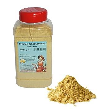 Gr 500 Mostaza Amarilla de polvo de dispensador para accompagnare Carne y pescado: Amazon.es: Hogar