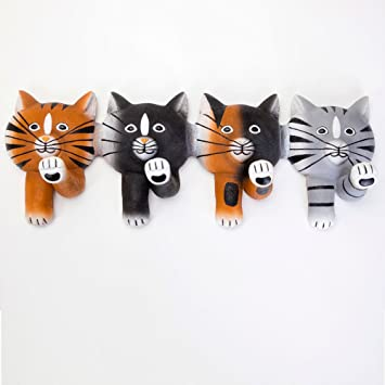 Bits y piezas - four-paws Kitty Cat ganchos - decorativo ...