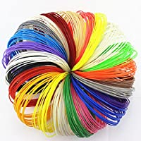 500 Linear Feet 3D Pen Filament Refills ABS 1.75mm With Awesome Colors - 25 PACKS × 20ft. 2 Glow In Dark Colors By ZIRO3D by ZIRO