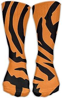 Men Women Classics Crew Socks Tiger Pattern Personalized Athletic Socks 30cm Long-All Season
