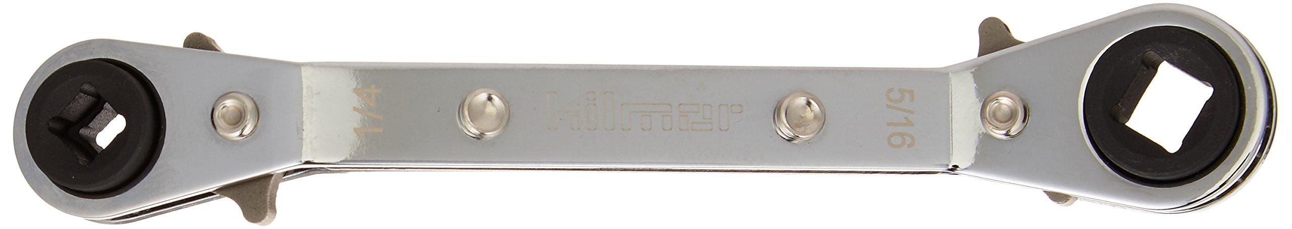 hilmor 1839043 Off Set Service Wrench, 1/4'' x 3/16'' Square, 3/8'' x 5/16'' Square