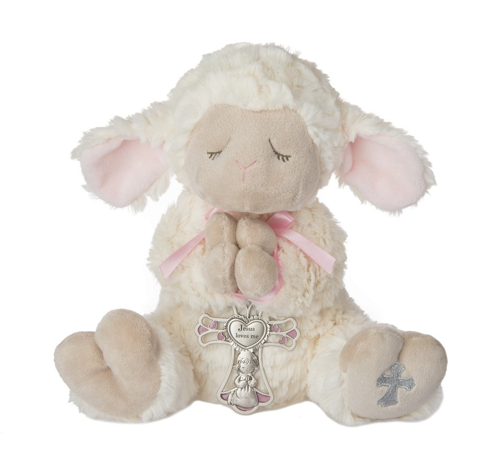 Ganz Serenity Lamb With Crib Cross Christening or Baptism Gift (Pink (Girl)) GanzUSA