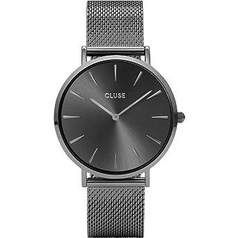 Cluse Reloj Analógico para Mujer de Cuarzo con Correa en Acero Inoxidable CL18121: Amazon.es: Relojes
