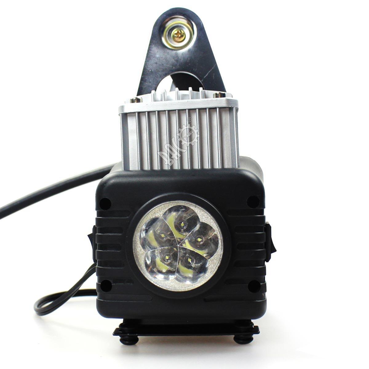 BACOAENG Doppio cilindro Compressore per auto con manometro e illuminazione 12 V 150 psi
