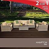 Hampton 6 Piece Outdoor Wicker Patio Furniture Set 06b