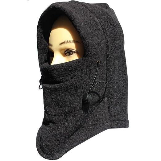 FUYI Women s Windbreak Warm Fleece Neck Hat Winter Ski Full Face ... 6208fb1f8ef9