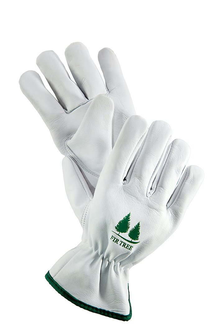FirTree Brand Leather Work Gloves. Premium Goatskin Utility Gloves. Great Gardening Gloves, Outdoor Working Gloves and Drivers Gloves. For Men and Women (Size Chart Pictured). by FirTree Brand
