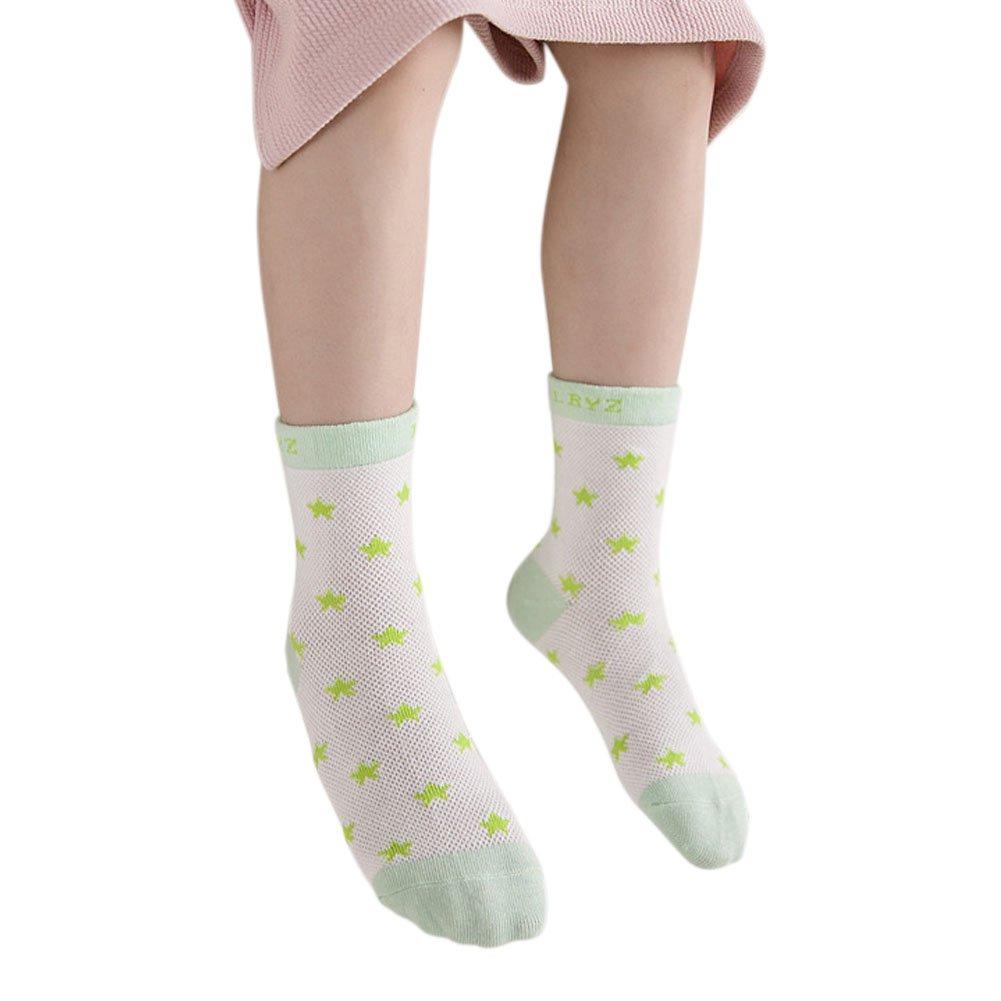 Evelin LEE Kids Unisex Baby Toddler Soft Socks 5 Pairs Crew Walkers Newborn Gift