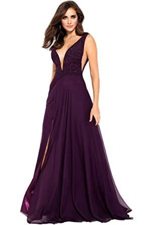 Jovani Prom 2018 Dress Evening Gown Authentic 48116 Long Purple At