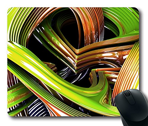 Abstract 3D 41 Gaming Mouse Pad Personalized Hot Oblong Shaped Mouse Mat Design Natural Eco Rubber Durable Computer Desk Stationery Accessories Mouse Pads For Gift - Support Wired Wireless or Bluetooth Mouse