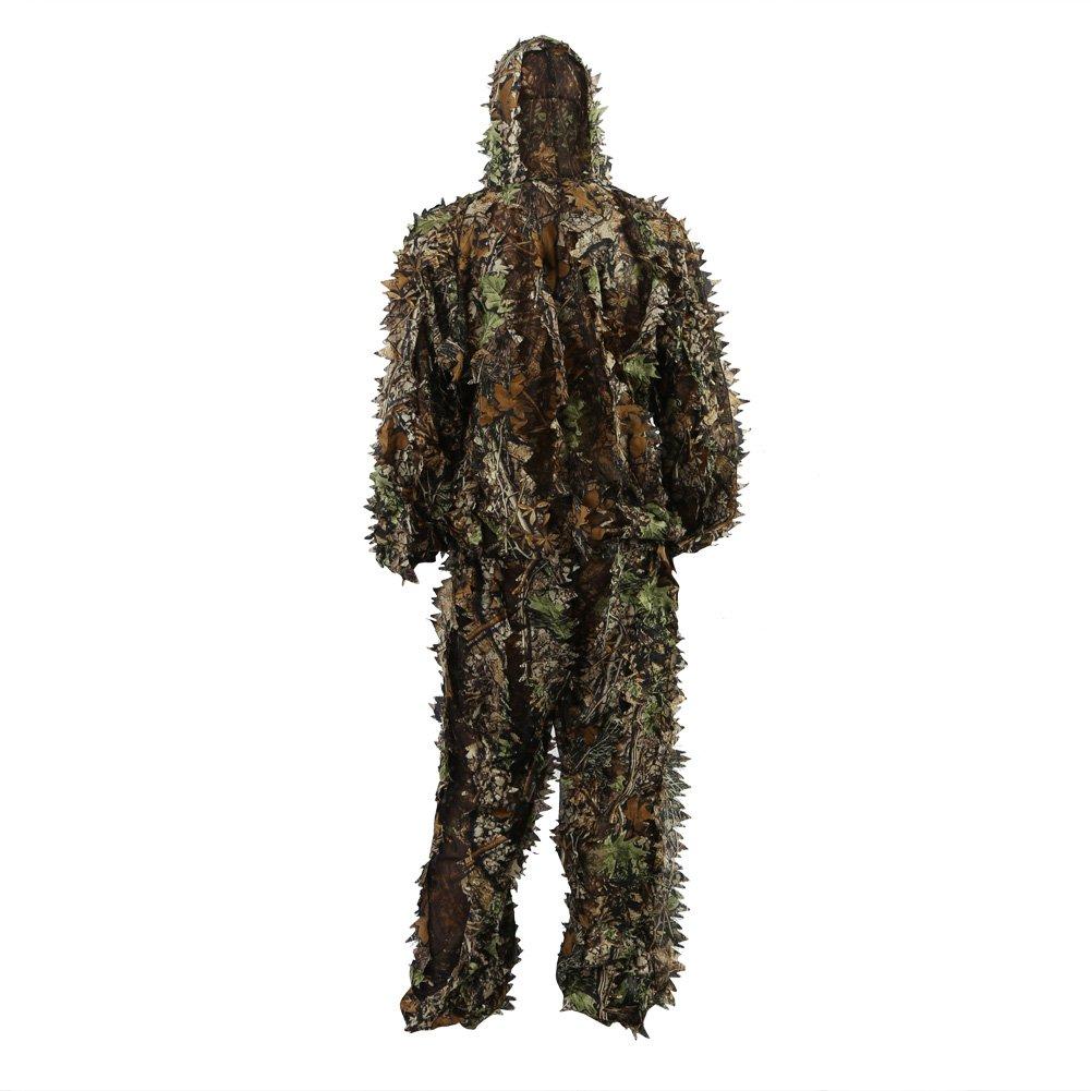 Zicac Foglie 3D Camouflage Abbigliamento Outdoor Jungle Woodland Caccia Camo Ghillie Completo (Altezza di Meno 5'11)