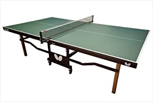 Butterfly Nippon 22 Ping Pong Table—Indoor Rollaway Table Tennis Table—Built Like A Tank—for Club, Home Game Room, Institution—Professional Ping Pong Net Included—Playback Option
