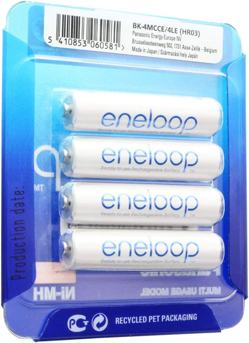 Sanyo eneloop batería AAA HR-4UTGA 800 mAh 4 Pack: Amazon.es: Electrónica