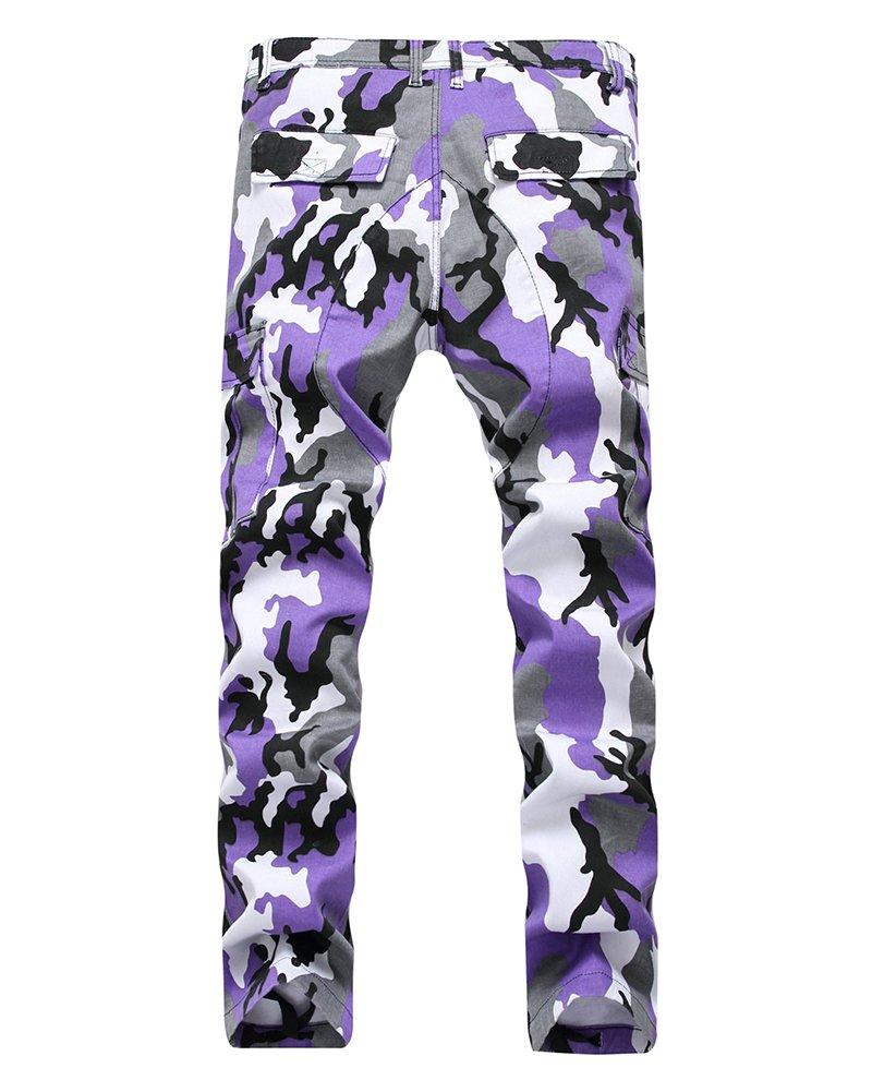 Yonglan Hombres Camuflaje Pantalones De Carga Pantalones Sueltos ...