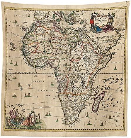 vipsung Antique Decor Mantel Mapa Antiguo de África Continente ...