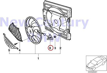 BMW auténtica Ventilador vivienda de montaje partes Pusher ...