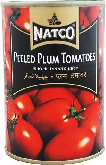 Natco - Tomates pera pelados en salsa de tomate - 400 g - Pack de 2