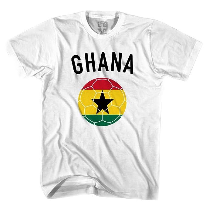 Ghana camiseta de balón de fútbol blanco blanco medium: Amazon.es: Ropa y accesorios
