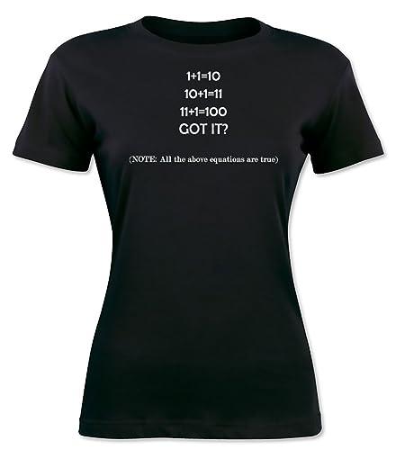 Binary Counting Joke La camiseta de las mujeres