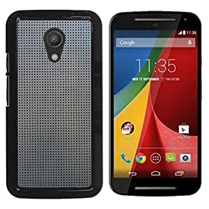 MOBMART Carcasa Funda Case Cover Armor Shell PARA Motorola G 2ND GEN II - Steeled Dark Dots