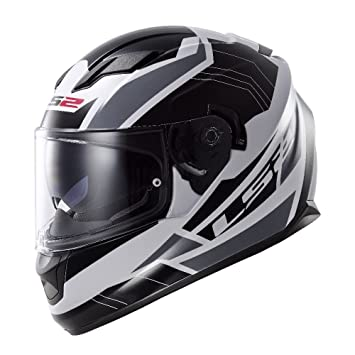 LS2 Stream Omega Full Face Motorcycle Helmet with Sunshield (Black, Large)