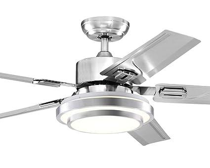 SDKKY Variable Frequenz Ventilator Lampe Deckenventilator, Modern Einfaches  Esszimmer Schlafzimmer, Elektrische Ventilator Kronleuchter Home