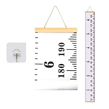 Hanging Height Measurement Ruler Wall Decals for Baby to Adult Home Child Room Decor 7.9 x 79in Kids Growth Chart