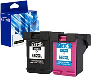 ESTON 2 Pack #662 XL Black/Color Ink for Deskjet Ink Advantage 1015 1515 2515 2545 2645 3515 3545 4645