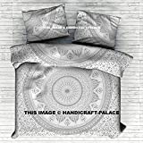 Indian Silver Ombre Duvet Doona Cover Comforter Mandala King Size Quilt Cover Set 100% Cotton Handmade By Handicraftspalace