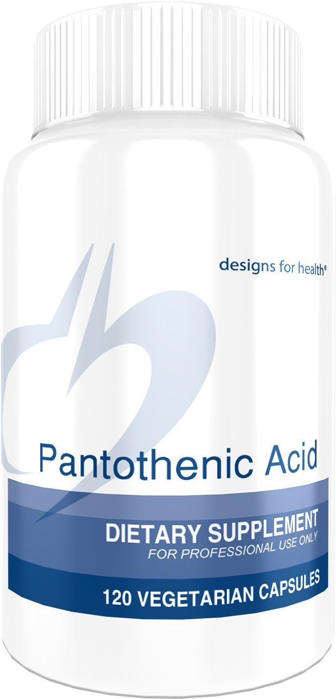 Designs for Health Pantothenic Acid Capsules - 500 Milligrams Vitamin B5 (120 Capsules)