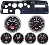 Classic Dash 104700913 Chevelle SS Carbon Dash Carrier Panel w Auto Meter Sport Comp II Gauges TR