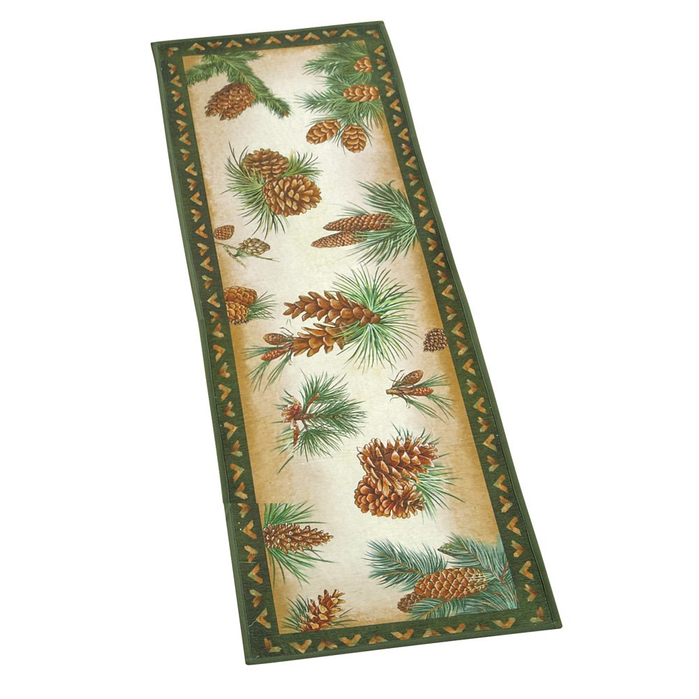 Collections Etc Woodland Lodge Pinecone Skid-resistant Rug, 20'' X 57'' by Collections Etc