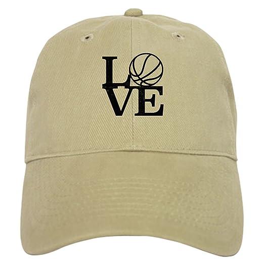 51634bb9de4 CafePress - Love Basketball - Baseball Cap with Adjustable Closure