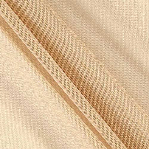TELIO Stretch Nylon Mesh Knit Dark Nude Fabric by The Yard, Dark Nude