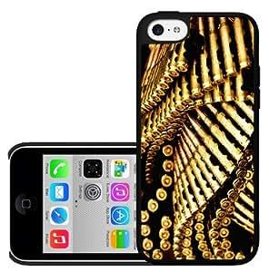 Gold Machine Gun Bullets Hard Snap on Phone Case (iPhone 5c)