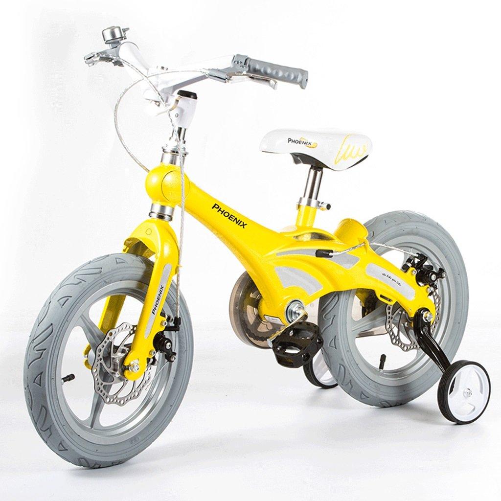 DGF 子供用自転車男性と女性の赤ちゃんの赤ちゃんキャリッジ12/14/16インチ自転車マウンテンバイク子供自転車 (色 : イエロー いえろ゜, サイズ さいず : 14 inches) B07F1TN89Mイエロー いえろ゜ 14 inches