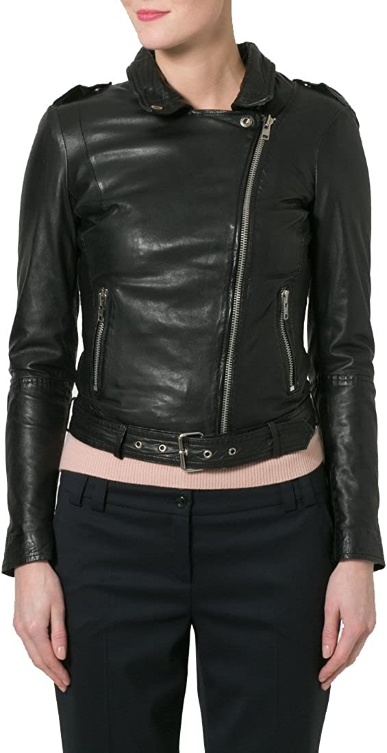 Kingdom Leather Brand New Genuine Soft Lambskin Leather Jacket For Womens Designer Wear XW080