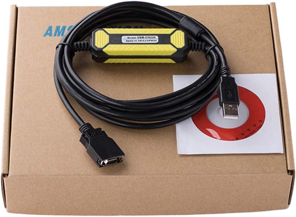 Morismoon 1pack/lot USB-CN226 PLC Cable de programación para Omron CS/CJCQM1H CPM2C Series CS1W-CN226 versión USB, amarillo