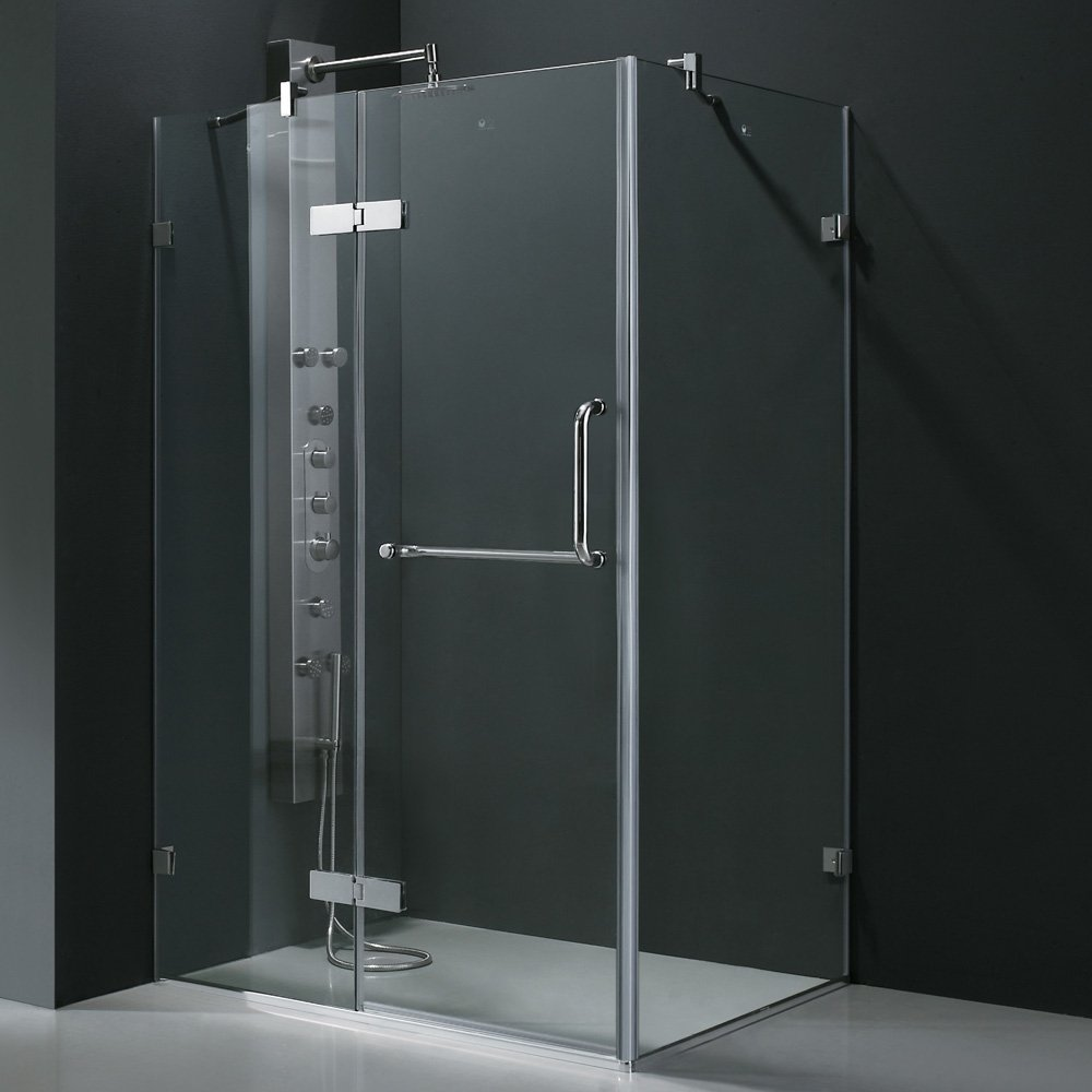 Vigo monteray 32 x 48 in frameless shower enclosure with 375 in vigo monteray 32 x 48 in frameless shower enclosure with 375 in clear glass and chrome hardware shower doors amazon planetlyrics Gallery