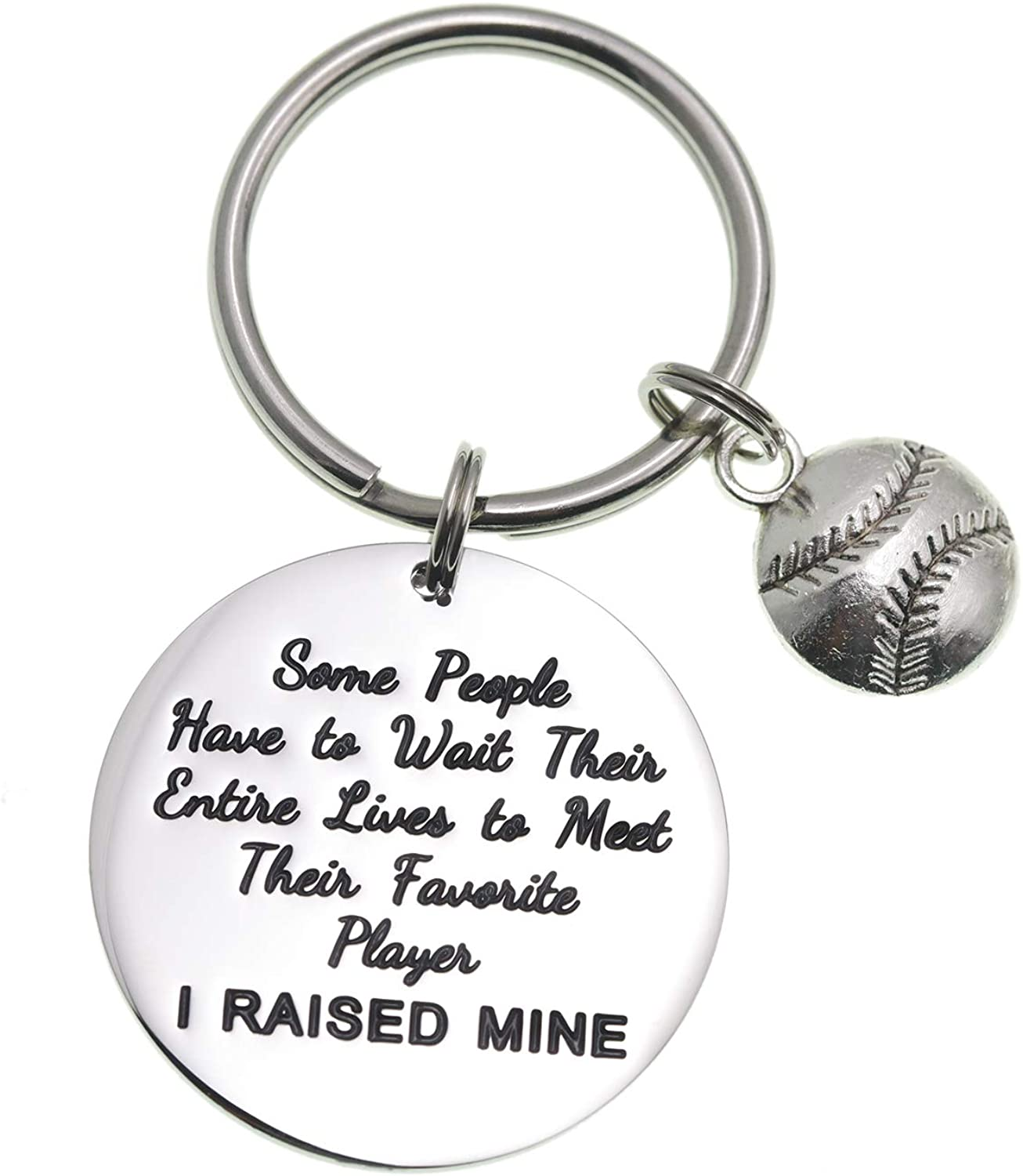 Melix Home Baseball Basketball Soccer Ball Keychains for Women Some People Have to Wait Their Entire Lives to Meet Their Favorite Player I Raised Mine Dad Gifts for Mom Gifts