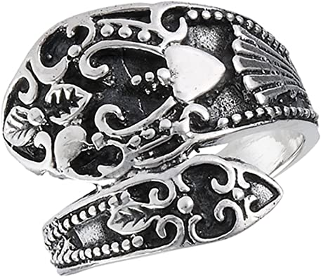 Open Adjustable Celtic Spoon Vintage Ring Sterling Silver Thumb Band Sizes 6-10