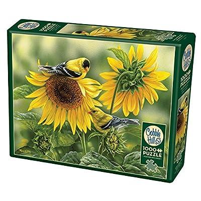 Cobblehill 80115 1000 Pc Girasoli E Goldfinches Puzzle Vari