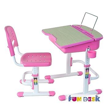 FD FUN DESK Height Adjustable Children Desk U0026 Chair Set, Kids Workstation  For School,