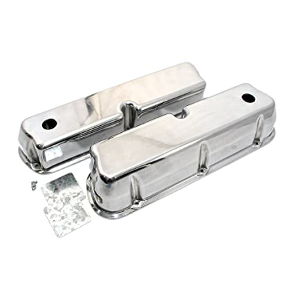 SBF Ford 289 302 351W  Finned Aluminum Valve Covers With Holes Fits Mustang